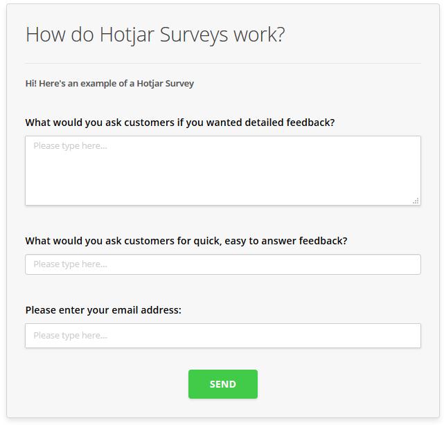 what is a hotjar survey hotjar documentation